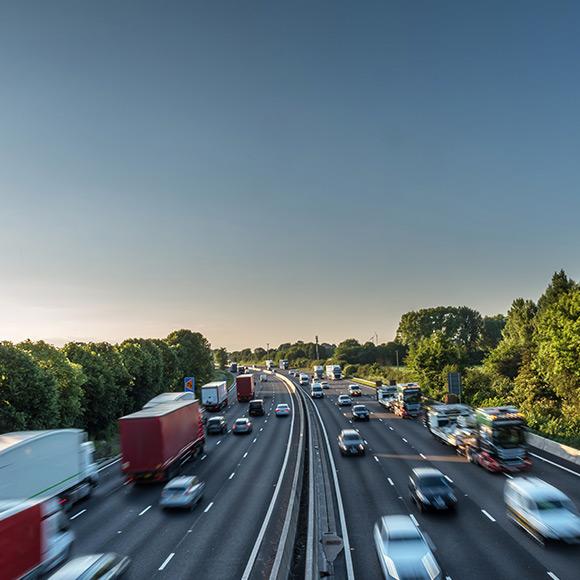 Lorries on motorway to depict fleet insurance by Find Insurance NI