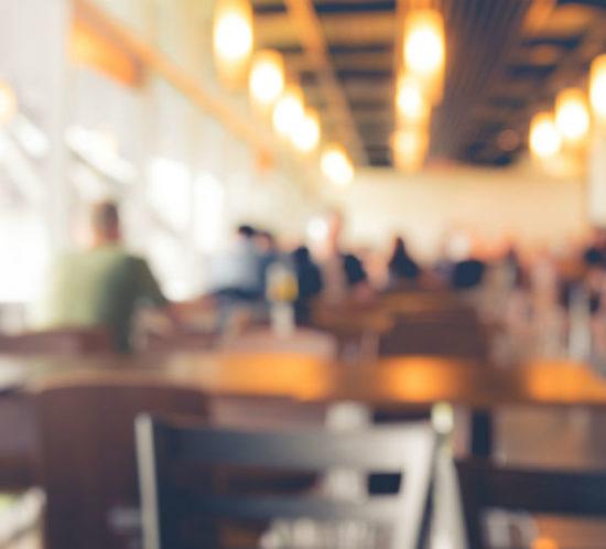 Bleurred cafe for Find Insurance NI blog