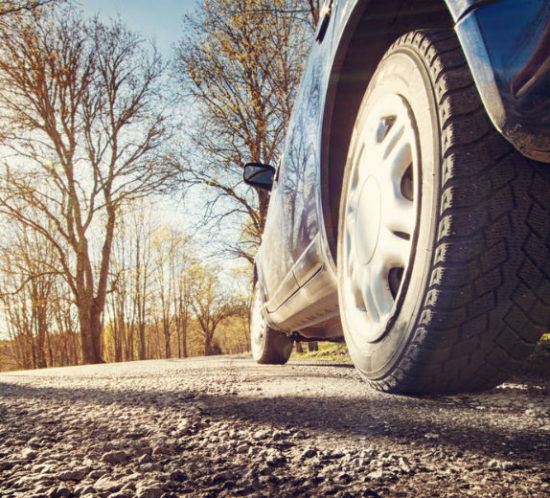 Car tyre driving spring morning for Find Insurance NI blog